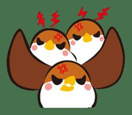 Three Sparrows ( overaction ver. ) sticker #1336430