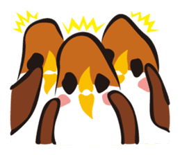 Three Sparrows ( overaction ver. ) sticker #1336432