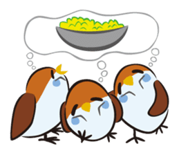 Three Sparrows ( overaction ver. ) sticker #1336434