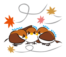 Three Sparrows ( overaction ver. ) sticker #1336439