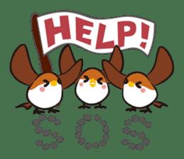 Three Sparrows ( overaction ver. ) sticker #1336441