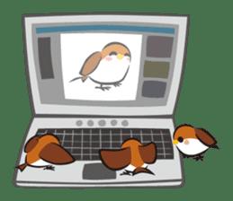 Three Sparrows ( overaction ver. ) sticker #1336442