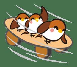 Three Sparrows ( overaction ver. ) sticker #1336443