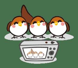 Three Sparrows ( overaction ver. ) sticker #1336444