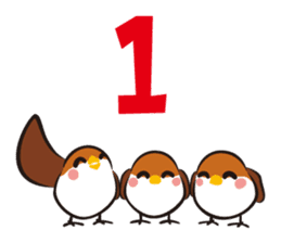 Three Sparrows ( overaction ver. ) sticker #1336446
