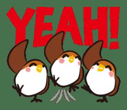 Three Sparrows ( overaction ver. ) sticker #1336449