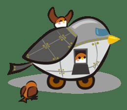 Three Sparrows ( overaction ver. ) sticker #1336463