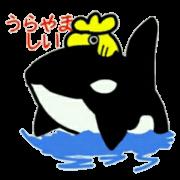 สติ๊กเกอร์ไลน์ Golden dolphin