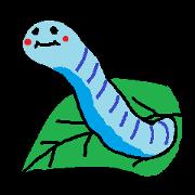 สติ๊กเกอร์ไลน์ Blue larva