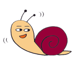 happy snail sticker #1340718