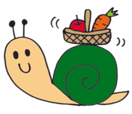 happy snail sticker #1340720