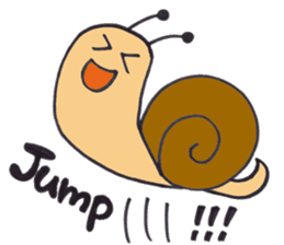 happy snail sticker #1340724