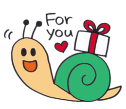 happy snail sticker #1340730