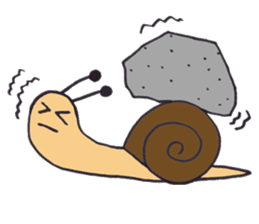happy snail sticker #1340731