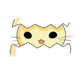 Smile egg shells cat sticker #1344344