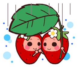 The feeling of a strawberry 2 sticker #1344971
