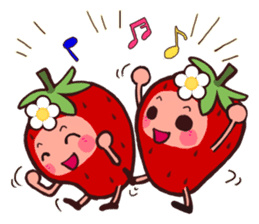 The feeling of a strawberry 2 sticker #1344978