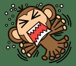 Funny monkey sticker #1345685