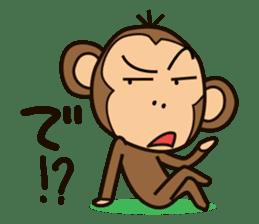 Funny monkey sticker #1345689