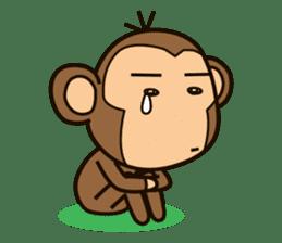 Funny monkey sticker #1345691