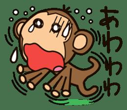 Funny monkey sticker #1345692