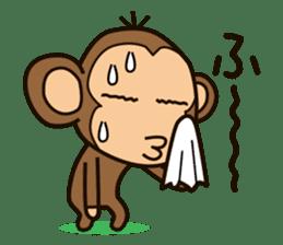 Funny monkey sticker #1345693