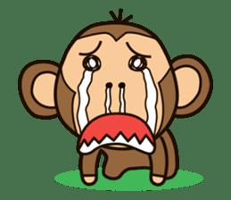 Funny monkey sticker #1345694