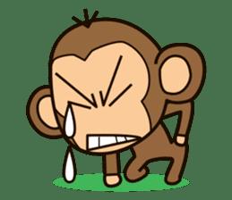 Funny monkey sticker #1345695