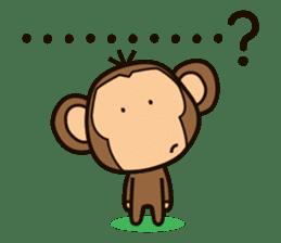 Funny monkey sticker #1345696