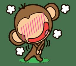 Funny monkey sticker #1345698