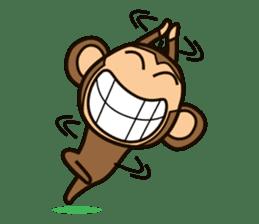 Funny monkey sticker #1345701