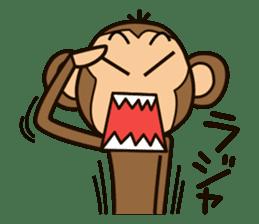 Funny monkey sticker #1345702