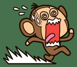 Funny monkey sticker #1345705