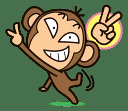 Funny monkey sticker #1345709