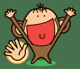 Funny monkey sticker #1345710