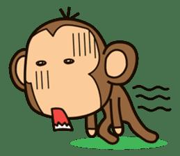 Funny monkey sticker #1345718