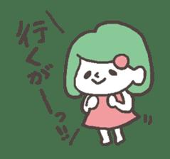 The girl of Kagoshima sticker #1346531