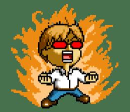 Dot picture salaryman's KAMATA sticker #1346652