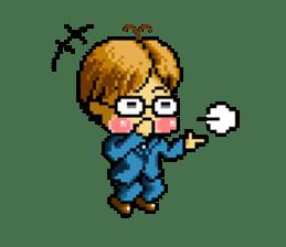 Dot picture salaryman's KAMATA sticker #1346663