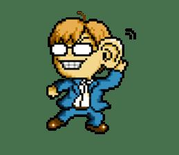 Dot picture salaryman's KAMATA sticker #1346675