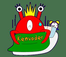 Kenvader 1 (Japanese space pet) sticker #1346969