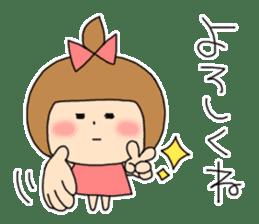 strange lovely girl Heko sticker #1352887