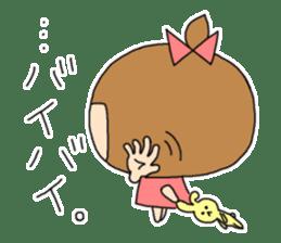 strange lovely girl Heko sticker #1352888