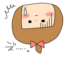 strange lovely girl Heko sticker #1352889