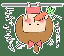 strange lovely girl Heko sticker #1352907