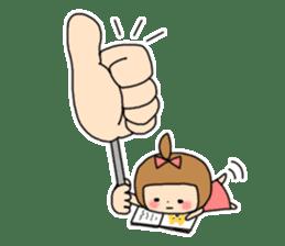strange lovely girl Heko sticker #1352908