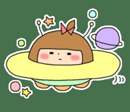 strange lovely girl Heko sticker #1352911