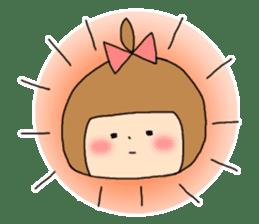 strange lovely girl Heko sticker #1352913