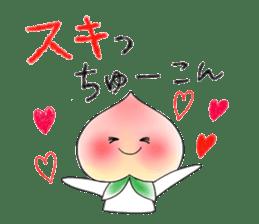 Little dog&Peach's dialect near Mt.Fuji sticker #1353499