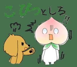 Little dog&Peach's dialect near Mt.Fuji sticker #1353507